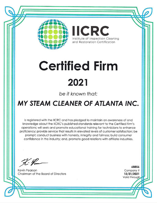 2021 IICRC Certification
